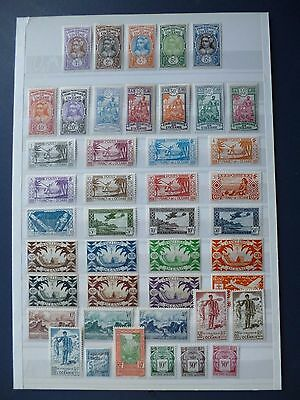 """FRENCH COLONIES :- """" Oceanic Settlements """" : 1913 - 1948 : Mint selection."""