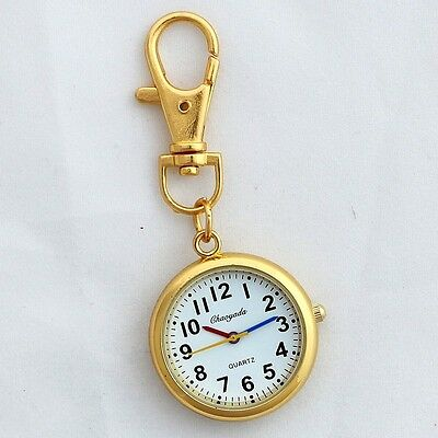 Retro Bronze Quartz Pocket Watch Cute Key Ring Keychain New Party Gift GL52