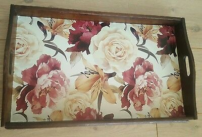 Large Wood Tray Vintage Wooden Tray Serving Tray Tea Tray