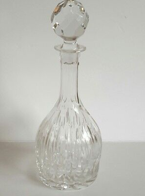 Vintage Decanter Glass Decanter Cut Glass Crystal