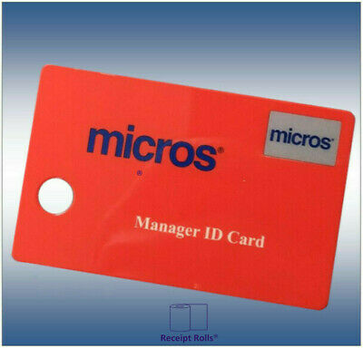 Package of 10 Genuine Red Micros Magnetic Managers Swipe ID Cards