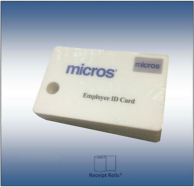 Package of 10 Genuine Micros Magnetic Stripe Employee ID Swipe Cards