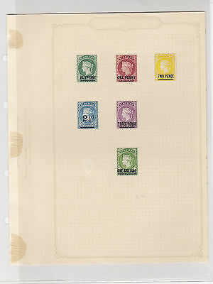 St Helena 1884-94 Mounted Mint Stamps Ref: R6283