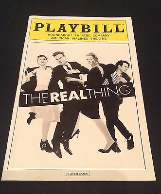Broadway ' The Real Thing ' Playbill   Ewan McGregor  Maggie Gyllenhaal