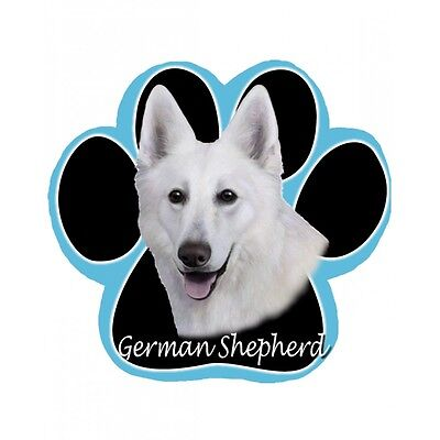 GERMAN SHEPHERD White Dog Paw Shaped Computer MOUSE PAD Mousepad