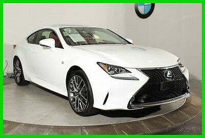 2016 Lexus Other F - SPORT NAVIGATION SYSTEM REAR-VIEW CAMERA BLIND 2016 Lexus RC 300 White Coupe F - SPORT NAVIGATION SYSTEM REAR-VIEW CAMERA BLIND