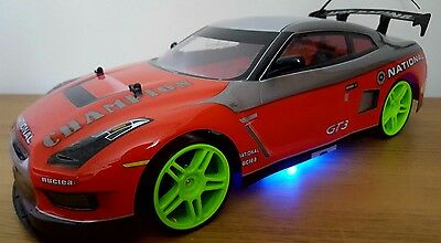 NISSAN GTR SKYLINE RECHARGEABLE Radio Remote Control Car 4WD POWERFUL DRIFT 1:10