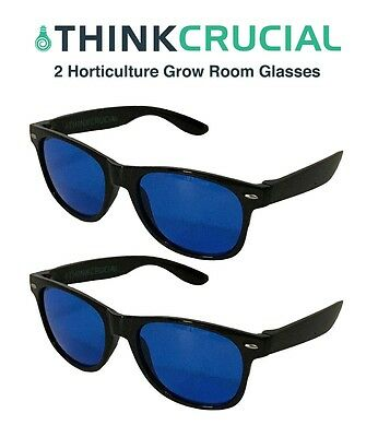 2 Horticulture Indoor Hydroponic Grow Room Greenhouse Light Glasses AntiUV/Glare
