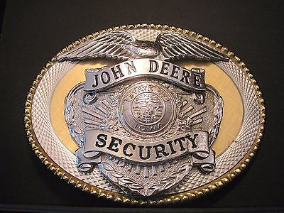John Deere EMPLOYEE  STATE OF IOWA SECURITY Badge Belt Buckle Eagle Shield jd