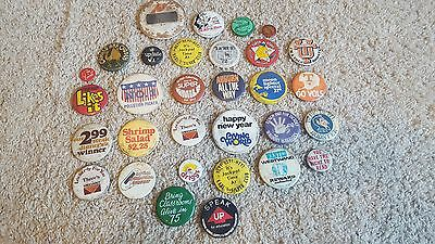 LOT of VINTAGE 1960's-1980's PIN BACK BUTTONS