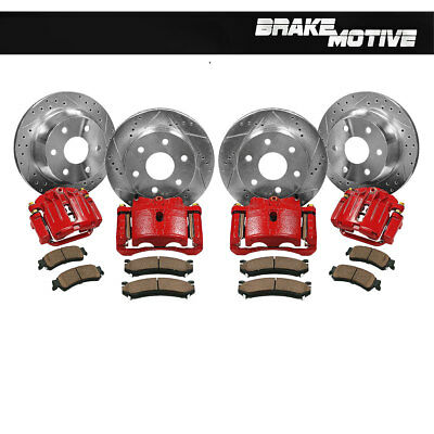 Front and Rear Brake Calipers + Rotors + Pads 2003 - 2006 2007 SILVERADO SIERRA