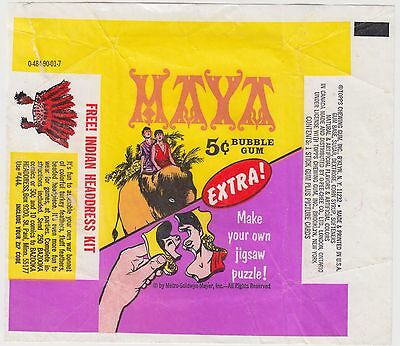 1967 Topps Maya Original Vintage Wax Pack Wrapper Excellent Condition