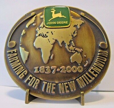 John Deere 2000 Millennium Service Training Belt Buckle Australia NZ  Ltd Ed 001