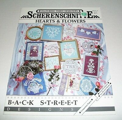 Scherenschnitte Pattern Book 1990 Hearts And Flowers 26 Crafts In Parchment