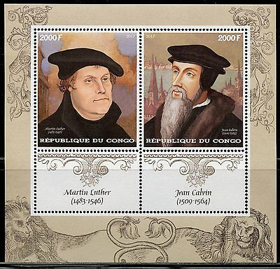 CONGO 2017  500th ANNIVERSARY OF REFORMATION MARTIN  LUTHER  SHEET  MINT NH