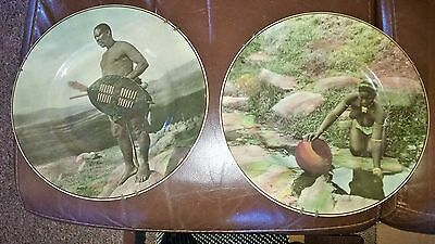 Royal Doulton Plates-Zululand-African Series