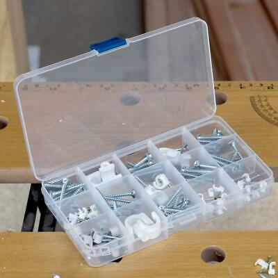 15 Compartment Plastic Storage Box Jewellery Earring Beads Case Container