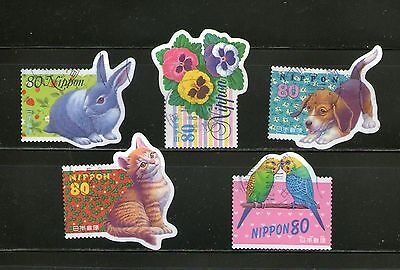 Japan : 5 Diff. Greetings-1998, Odd-Shaped, Compl., Commemo.,fu, # 13