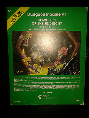 ADVANCED DUNGEONS & DRAGONS (AD&D) Dungeon Module A1 Slave Pits of the Undercity