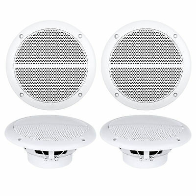 "4X New Enrock Marine Dual 6.5"" Weather Resistant Full Range Speakers 250 Watt"