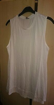 Ladies BNWT ASOS maternity white top size 14 long length