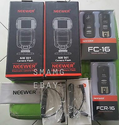 Neewer NW-561 LCD Screen Flash Speedlite Kit for Canon Nikon Other DSLR Cameras