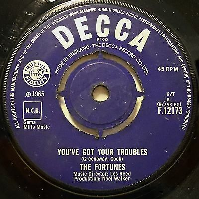THE FORTUNES - You're Go Your Troubles / I've Got To Go .. 1965 Uk Decca 45rpm