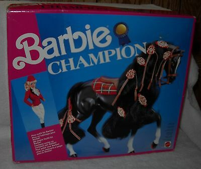 #6325 RARE NRFB Vintage Mattel Europe Barbie Champion Horse Foreign Issue