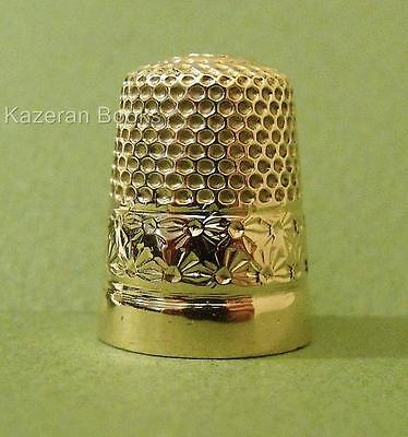 Vintage Solid 9ct Gold Henry Griffith & Sons Combination Thimble Hallmarked 1951