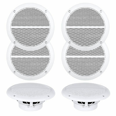 "6 X Enrock Marine Dual 6.5"" Weather Resistant Full Range Speakers 250 Watts"