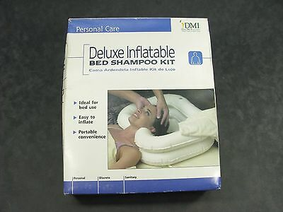 NEW DMI Deluxe Inflatable BED Shampoo Kit ~ Hair Washing Basin w/ Drain Tube