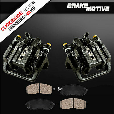Rear Black Brake Calipers + Pads 2001 2002 2003 Acura CL 6 Cylinder