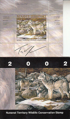 Canada MNH Nunavut Conservation 2002  NUW4  SIGNED    Value $ 21.00