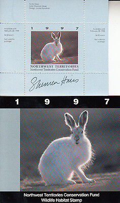 Canada MNH Northwest Terr Conservation 1997  NTW1 SIGNED  Value $ 23.00