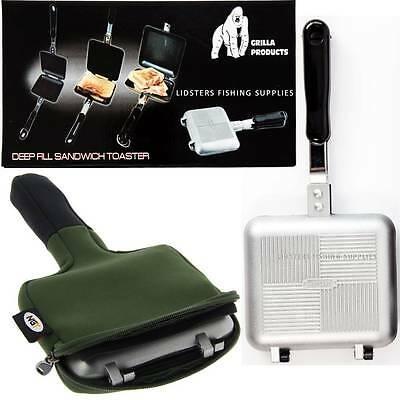 Grilla Sandwich Toaster Tostie Maker With Case Bag Carp Fishing Tackle Camping