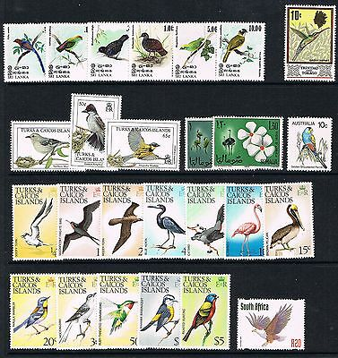 Birds selection, unmounted mint/MNH