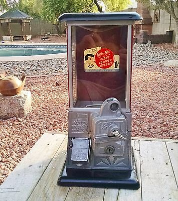 The Master Penny 1 Cent 1920's Vintage Gumball Machine Very Good Condition!