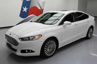 2014 Ford Fusion  2014 FORD FUSION TITANIUM ECOBOOST LEATHER SUNROOF 56K #300020 Texas Direct Auto