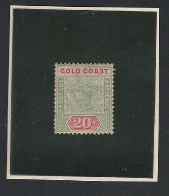 GOLD COAST. 24 20sh green &  red. 1889.  CV $3250