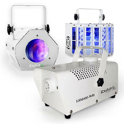Pack Iluminacion Foco Led Maquina Humo Moonflower Efectos Fiesta Disco Club Dj