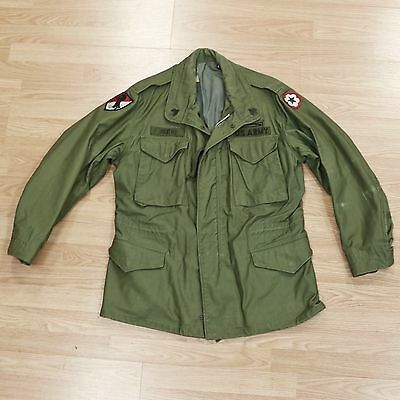 Vtg Original 1968 Vietnam War US Army M-65 Field Coat 11th Armored Cavalry