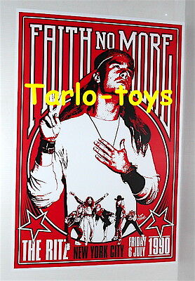FAITH NO MORE - Mike Patton - New York, Usa - 6 july 1990   concert poster