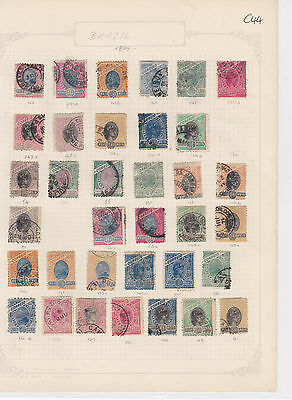 Brazil 1894 Used Lot Stamps Ref: R6325