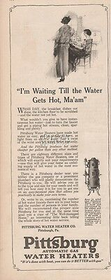 1923 Pittsburg Gas Water Heater Pittsburgh PA Waiting till the water gets hot Ad