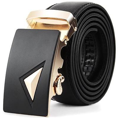 Hot Sale Men Leather Automatic Buckle Belts Fashion Waist Strap Belt Waistband