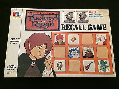 THE LORD OF THE RINGS Milton Bradley Recall Game 1978