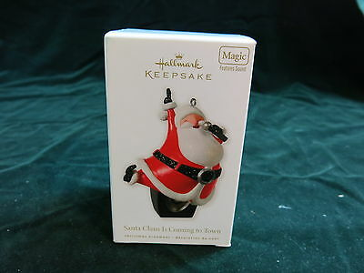 Hallmark Keepsake Ornament Magic / Santa Claus Is Coming To Town With Box 2010