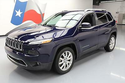 2014 Jeep Cherokee  2014 JEEP CHEROKEE LIMITED HTD LEATHER NAV REAR CAM 9K #267074 Texas Direct Auto