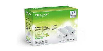 TP-Link TL-PA4010KIT AV500 Nano Powerline Adapter Starter Kit - 88351