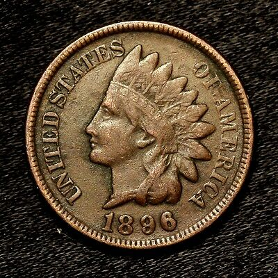 1896 ~**HIGH GRADE**~ Indian Head Cent Rare Copper US Old Penny Coin! #B64